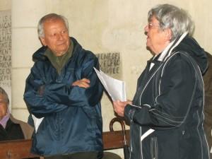 Mme FORTIN, Présidente et M. BOUCHAND, notre Guide