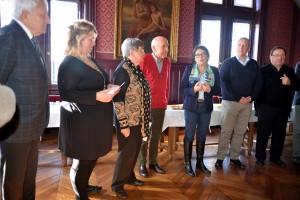 Réception en l'honneur de Mme Fortin