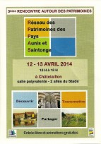 Participation MPF 17 aux Rencontres du Patrimoine de Chatelaillon  12/13 avril 2014